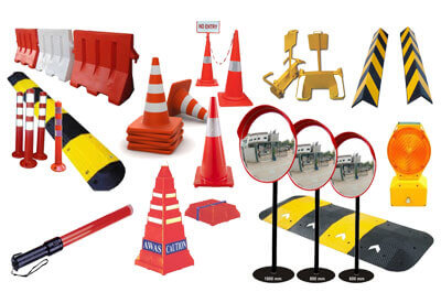 Road Safety Equipments in Chennai - Cones, Mirrors, Barriers, Studs, Springs