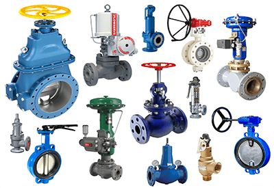 Valves - Ball, Butterfly, Control, Gate, Check, Solenoid, SS, Needle, Diaphragm, Foot, CI